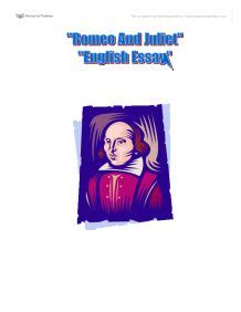 The Tragedy of Romeo and Juliet - Essay 2010-2011 - The