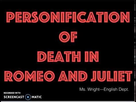 Death essay romeo and juliet